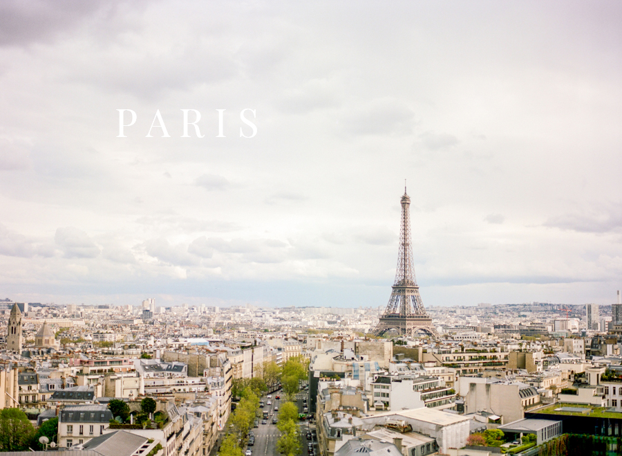 wide angle view of paris from arc de triomphe by charlottesville photographer, amy nicole photography