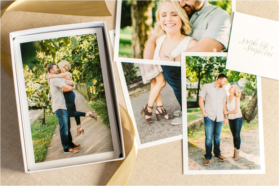 proof prints of an anniversary session