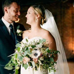 Maggie & Zach: Elegant Industrial Wedding in Nashville, TN