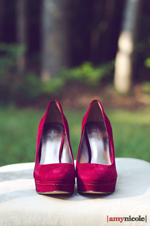 Red Shoes and Vintage Details